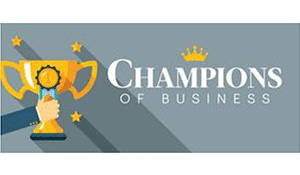 The Kansas City Business Journal Champion of Business logo