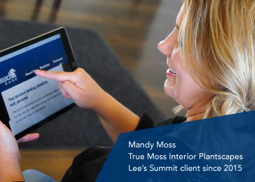 Mandy Moss, founder of True Moss Interior Plantscapes, a Lead Bank Lee