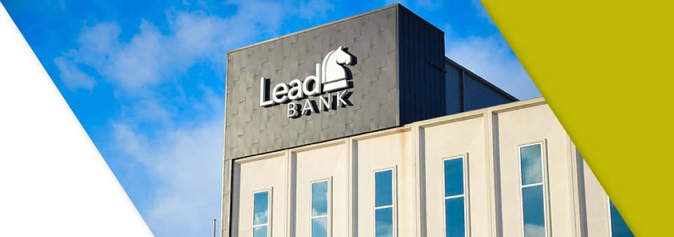 Lead Bank Kansas City building against blue sky