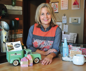 Pam Wheeler with the products she is selling