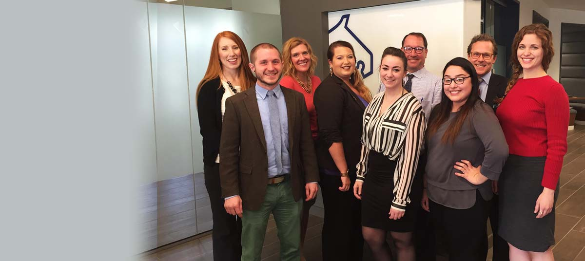 A picture of the Lead Bank team in their Kansas City location