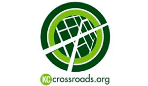 The KC Kansas City Crossroads logo